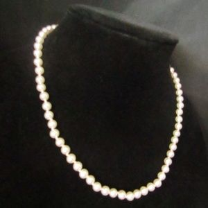 Other - Hand knotted pink faux pearl necklace